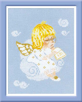 Cherub With Book Cross Stitch Kit