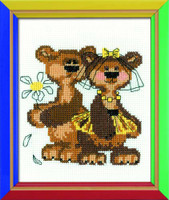 Masha And Misha Cross Stitch Kit By Riolis