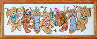 On The Line Teddies Cross Stitch Kit By Design Works