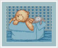 Baby Bear Boy Cross Stitch Kit By Luca S
