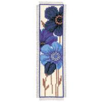 Blue Poppy 2 Bookmark Vervaco Cross Stitch Kit