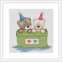 Bears In A Box Cross Stitch Kit By Luca S
