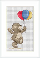 Happy Bruno With Balloons Cross Stitch Kit By Luca S