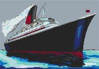 Qe2 Cruise Ship Cross Stitch Kit