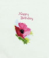 Happy Birthday Poppy Card Cross Stitch Kit