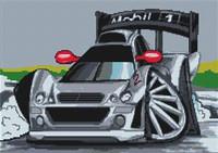 Formula 1 Car Cross Stitch Kit