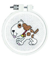 Doggy Cross Stitch Kti With Hoop By Janlynn