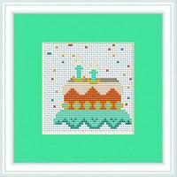Birthday Cake Mini Cross Stitch Kit By Luca S