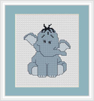 Blue Elephant Mini Cross Stitch Kit By Luca S