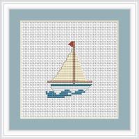 Boat Mini Cross Stitch Kit By Luca S