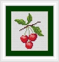 Cherries Ii Mini Cross Stitch Kit By Luca S