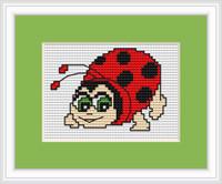 Lady Bird Mini Cross Stitch Kit By Luca S