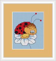 Ladybird In Love Mini Cross Stitch Kit By Luca S