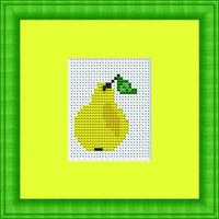 Pear Mini Cross Stitch Kit By Luca S