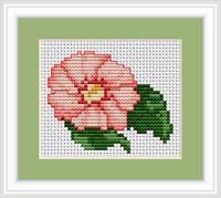 Pink Flower Mini Cross Stitch Kit By Luca S