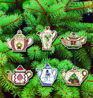 Christmas Teapots Ornaments Cross Stitch Kits By Jannlyn