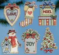 Country Christmas Ornaments Cross Stitch Kit By Design Works