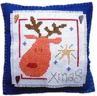 Rudolph Cushion Cross Stitch Kit