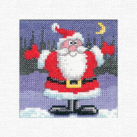 Santa Card Cross Stitch Kit By Heritage