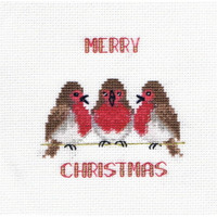 Robin Trio Chirstmas Card Cross Stitch Kit