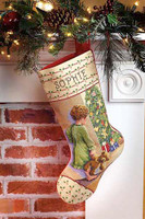 Christmas Morning Stocking Cross Stitch Kit By Janlynn