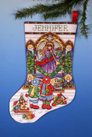 Stained Glass Stocking Cross Stitch Kit By Design Works