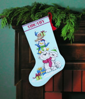 Stack Of Critters Stocking  Cross Stitch Kit