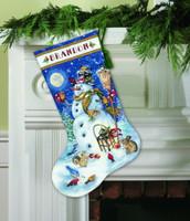 Snowman & Friends Stocking Cross Stitch Kit