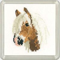 Palomino Pony  Square Coaster Cross Stitch Kit