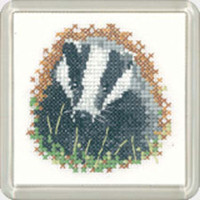 Badger  Coaster Cross Stitch Kit