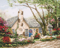 Morning Glory Cottage Cross Stitch Kit