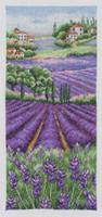 Provence Lavender Scape  Cross Stitch Kit