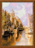 Amsterdam After Klinkenberg`S Painting Cross Stitch Kit