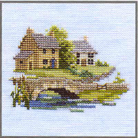 Brookside Cross Stitch Kit On Linen