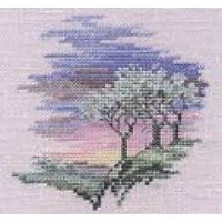 Minuets Frosty Trees Cross Stitch Kit