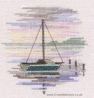 Minuets Sailing Boat Cross Stitch Kit On Linen