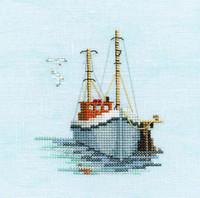 Minuets Fishing Boat Cross Stitch Kit