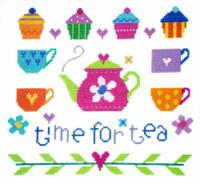 Time For Tea Cross Stitch Kit