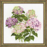 Garden Hydrangea Cross Stitch Kit