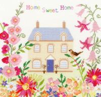 Home Sweet Home Flower Design Cross Stitch Kit
