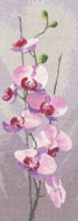 Orchid Panel Cross Stitch Kit By Heritage