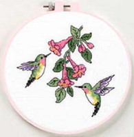 Hummingbird Duo Learn A Craft Counted Cross Stitch Kit