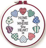 Home And Heart Learn A Craft Stamped Cross Stitch Kit