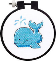 The Whale Learn A Craft Stamped Kids Cross Stitch Kit