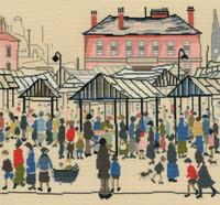 Market Scene Cross Stitch Kit By Bothy Threads