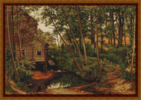 Cabin In Woods Cross Stitch Kit By Luca S