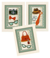 Miniatures Vintage Accessories Cros Sstitch Kits Set Of Three By Vervaco