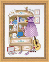 Girls Locker Cross Stitch Kit By Riolis