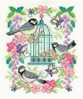 Oriental Birdcage  Cross Stitch Kit By Dmc
