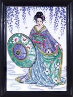 Geisha Cross Stitch Kit By Design Works